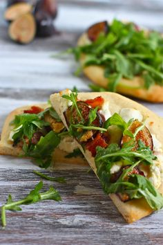 goat cheese, bacon and fig flatbreads