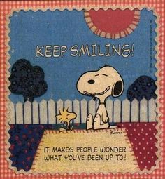 Snoopy and Woodstock - Keep Smiling