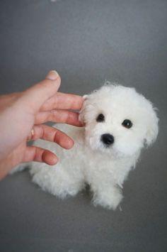 Life Size Needle Felted Puppy Maltese Dog, Wool Maltipoo Shorkie, Felt Animal… #feltedpuppy