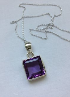 Purple Amethyst Sterling Silver Pendant | HeartHabits Deliciously Beautiful Things to Wear