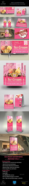 Ice Cream Advertising Bundle Vol.3 - Signage Print Templates