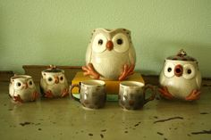 Vintage Fitz and Floyd Owl Tea Pot 1970s Pinned by www.myowlbarn.com