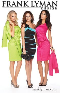 Amazing new dresses are in by the Frank Lyman Design team only at Mirella's Ladies Boutique, Burlington ON