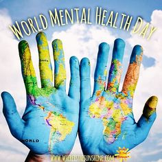 Today is #worldmentalhealthday! Get out there are promote mental health awareness to everyone you know!!! #mentalhealth #mentalillness #mentalhealthadvocacy #mentalhealthmatters #mentalhealthawareness #depression #stress #recovery #anxiety #ocd #ptsd #bipolar #bipolar2 #postpartum #schizophrenia #cutting #suicide #support #love #teen #heal #hope #survivor #fitness  #worldmentalhealthday2016 #inspiration #motivation #whereisthesunshine🔆