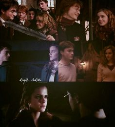 Harry x Hermione. Eye contact..