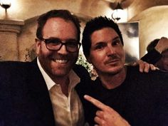 Josh Gates and Zak Bagans.   (Two paranormal TV legends in one photo.)