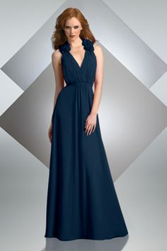 Bridesmaid dress in deep teal blue like the ocean. This should be the main color for the invitation suite. #pinBellaFigura