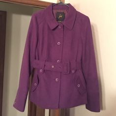 NWOT Jack by BB Dakota Peacoat Never worn---perfect condition. Very pretty purple color. Size medium. Jack by BB Dakota brand. Jack by BB Dakota Jackets & Coats Pea Coats