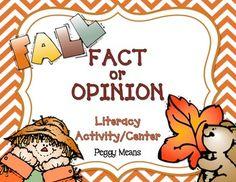 Fall Fact or Opinion Freebie