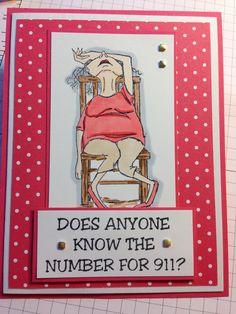Art Impressions: Golden Oldies: Madge ... handmade card.