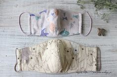 """How to make """"adult long three-dimensional mask to ears"""" and release video for hay fever and drying measures postscript) Sewing Crafts, Sewing Projects, Diy Mask, Weekend Fun, Fashion Bags, Diy And Crafts, Handmade, How To Make, Three Dimensional"""