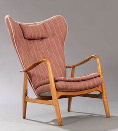 Anonymous; Beech Easy Chair by Madsen & Schubell, 1950s.
