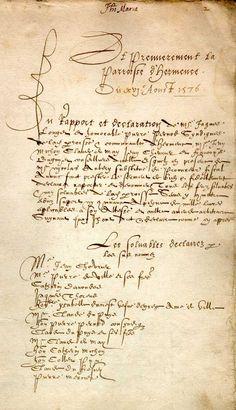 Dénombrement du Chablais, 1576.