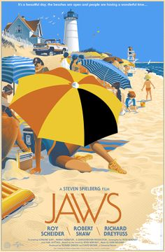 Jaws by Laurent Durieux, via Behance
