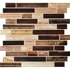 Recommended for residential floors, walls, counters, backsplashesVaried size glass tiles mounted on a 12-in x 12-in sheetPlease inspect tile prior to installation, no adjustments will be allowed after installationChemical Resistance: YesColor/Finish Family: Brown/TanCommon Measurement (L x W): 12-in x 12-inDry Coefficient of Friction: 0Edge Style: Slight rounded edge (pressed)Frost Resistance: NoIndoor/Outdoor: Indoor onlyManufacturer Color / Finish: SolsticeMosaic: YesMosaic Pattern: ...