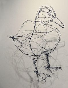 Large Wire Duck Sculpture