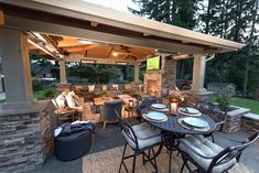 The Bissell Landscape Outdoor Pool - Designed by Paradise Restored Landscaping & Exterior Design of Portland, Oregon. Outdoor Pavilion, Outdoor Pool, Outdoor Spaces, Outdoor Living, Outdoor Patios, Backyard Patio Designs, Patio Ideas, Outdoor Ideas, Backyard Ideas