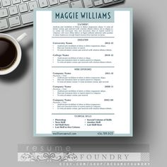 Student Resume Template  Three For One  Cover Letter Reference