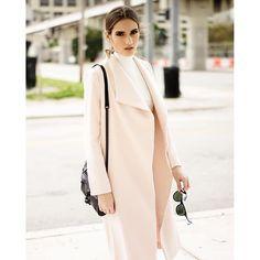 Style Link Miami Blush Overcoat #streetstyle #fashioneditorial