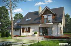 Projekty domów ARCHIPELAG - Amaranta G2 ENERGO Simple House, Home Fashion, Classroom Decor, New Homes, Farmhouse, Exterior, Cabin, House Design, House Styles