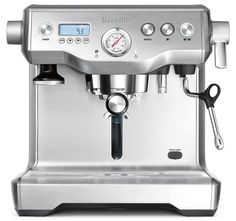 The Breville 'Oracle' coffee machine - sleek, silvery and highly scientific - makes an exquisite espresso ... although in my hands may just scald my face off, leaving me as some kind of half-masked Phantom ...
