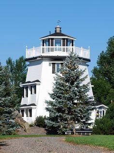 Brule lighthouse, Colchester County, Nova Scotia, Canada