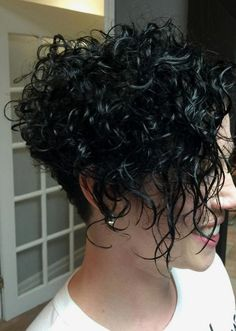 Short Wavy Curly Hair, Haircuts For Curly Hair, Curly Hair Cuts, Long Bob Hairstyles, Short Hair Cuts, Curly Hair Styles, 4b Hair, Thin Hair, Work Hairstyles