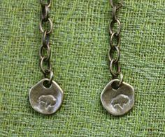 Buffalo NY Earrings  Talkin' Proud  antique by KitschMeYouFool, $12.00