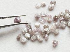 Pink Rough Diamond Pink Raw Diamond Uncut Diamond by gemsforjewels