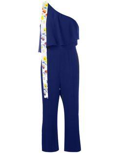 MSGM One Shoulder Frill Jumpsuit. #msgm #cloth #jumpsuit