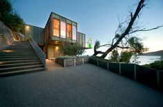 Tree House in Australia - It's a three-bedroom residence for related living spaces. http://mhllt.com/tree-house/ #SeparationCreek #Victoria #Australia #Architecture #Design #Interior #Exterior #Fiber #Cement #Home #House #Residence #mhllt