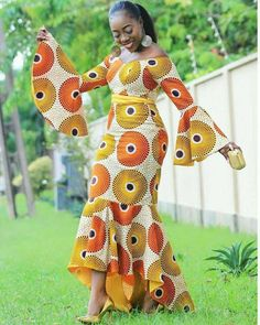 African high and low gown, African clothing for women, Ankara dress, African dress African Party Dresses, African Dresses For Women, African Wear, African Women, African Style, African Lace, African Design, African Attire, Ankara Gown Styles
