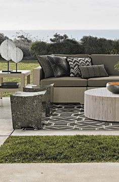 Outstanding comfort, structural integrity, and modular versatility make our Palermo Modular Seating Collection a welcome addition outdoors. | Frontgate: Live Beautifully Outdoors