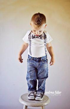 Baby Boy Bowtie & Suspender Bodysuit or shirt - Grey and White Polka Dot - Birthday, Baby Shower, Wedding