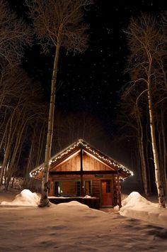 Log cabin lights