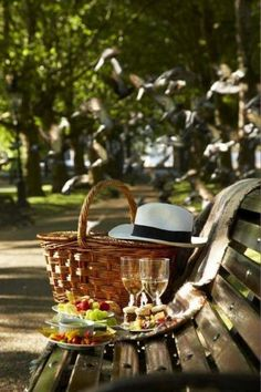 Picnic on a bench