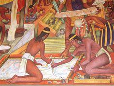 Diego Rivera, Teinture et Peinture, deuxième étage du Palacio Nacional, Mexico…
