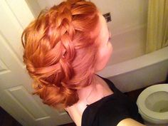 Braid for medium length hair Redhead Hairstyles, Up Hairstyles, Pretty Hairstyles, Braided Hairstyles, Wedding Hairstyles, Braids For Medium Length Hair, Medium Short Hair, Medium Hair Styles, Short Hair Styles