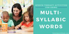Whether you are addressing fluency, articulation, apraxia or phonological awareness, these speech therapy activities using multisyllabic words can be a staple for daily activities. Speech Therapy Activities, Language Activities, Daily Activities, Speech Language Pathology, Speech And Language, Phonological Awareness Activities, Apraxia, Words, Hearing Impairment