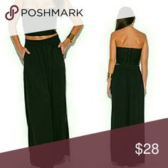Spotted while shopping on Poshmark: Black Wide Leg Chiffon Pants! #poshmark #fashion #shopping #style #Pants