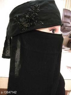 Hijabs Women's Handwork Naqab Parda For Islamic Abaya And Burkha Nosepiece Fabric: Chiffon Multipack: 1 Sizes:  Country of Origin: India Sizes Available: Free Size   Catalog Rating: ★4.3 (488)  Catalog Name: Aagyeyi Refined Hijabs CatalogID_2733868 C72-SC1578 Code: 142-13847142-