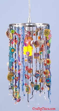 Diary of a Crafty Chica™: art chandelier