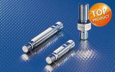 Sensores magnéticos com pressão de até 500 bar para detecção de aço.