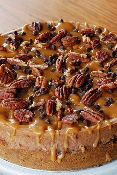 Pecan Pie Bread Pudding recipe from callmepmc combining 2 classics this bread pudding dessert has a rich pecan pie topping.  Serve it for breakfast as French toast gives you an excuse to eat pie for breakfast!