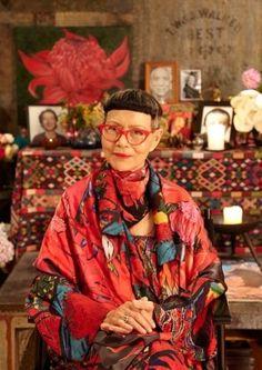 Australian fashion designer Jenny Kee