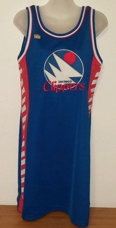 EUC NBA 4Her Womens Jersey Dress San Diego Clippers Size L/X  Ret. $85  #OfficialNBAHardwoodClassics #LosAngelesClippers