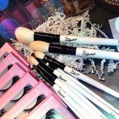 """""""Yay!  New makeup brushes came in today. Love how soft & fluffy the bristles are  can't wait to play with!  Get some of your own from…""""   (TX MUA Alina Michelle) #makeupbrushes #saymebeauty #mua"""