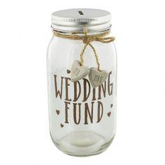 Mason Jar Wedding Fund Money Bank