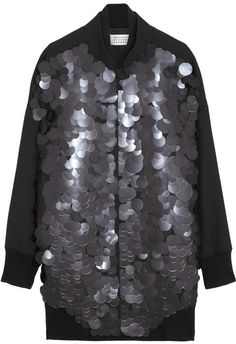 Maison Martin Margiela Paillette-embellished canvas baseball jacket