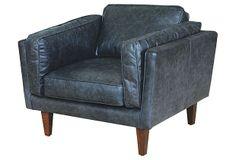 Perry Club Chair on OneKingsLane.com   leather black $1300 OneKingsLane ($3300)